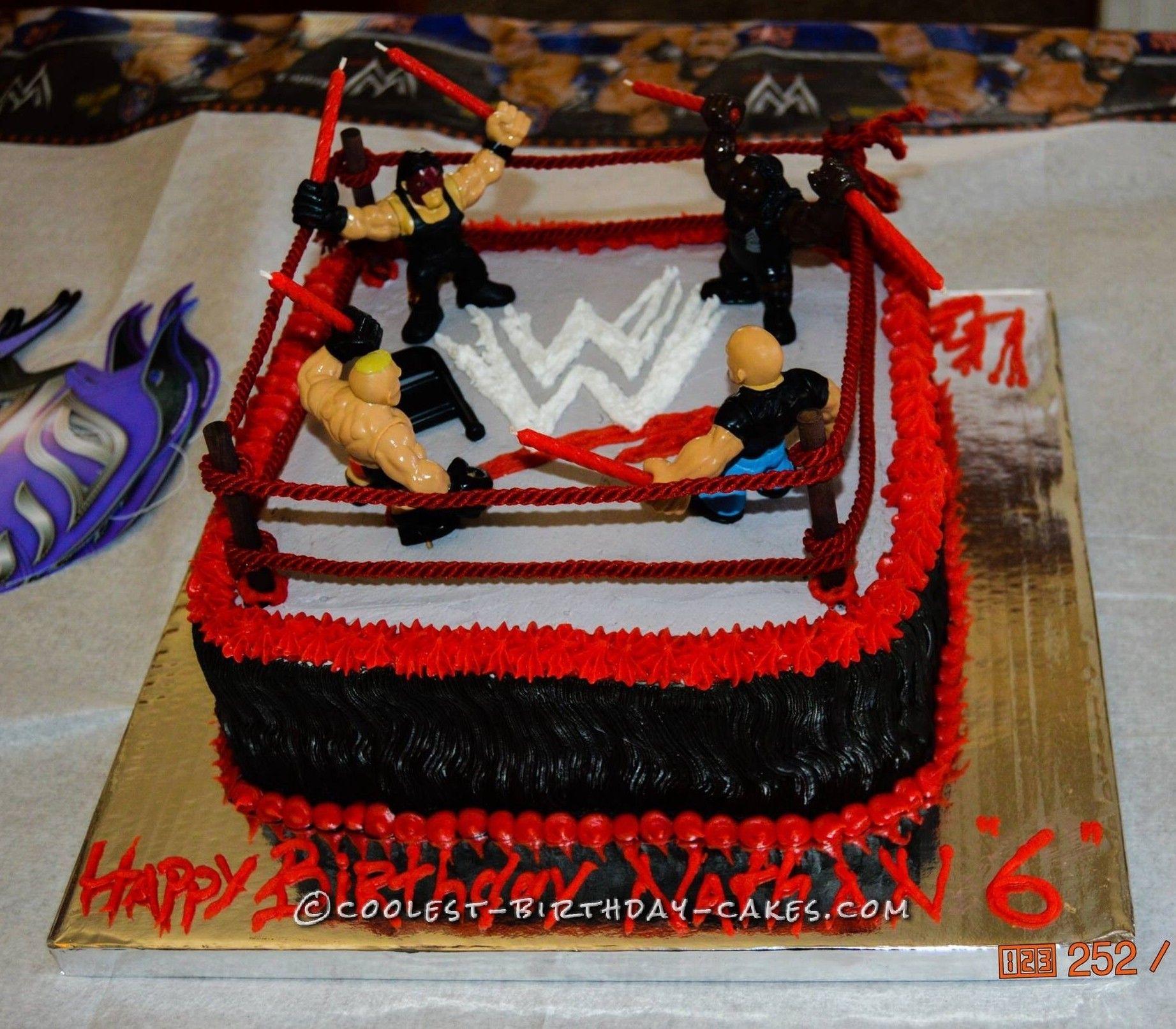 Nathan S Wwe Wrestling Ring Cake