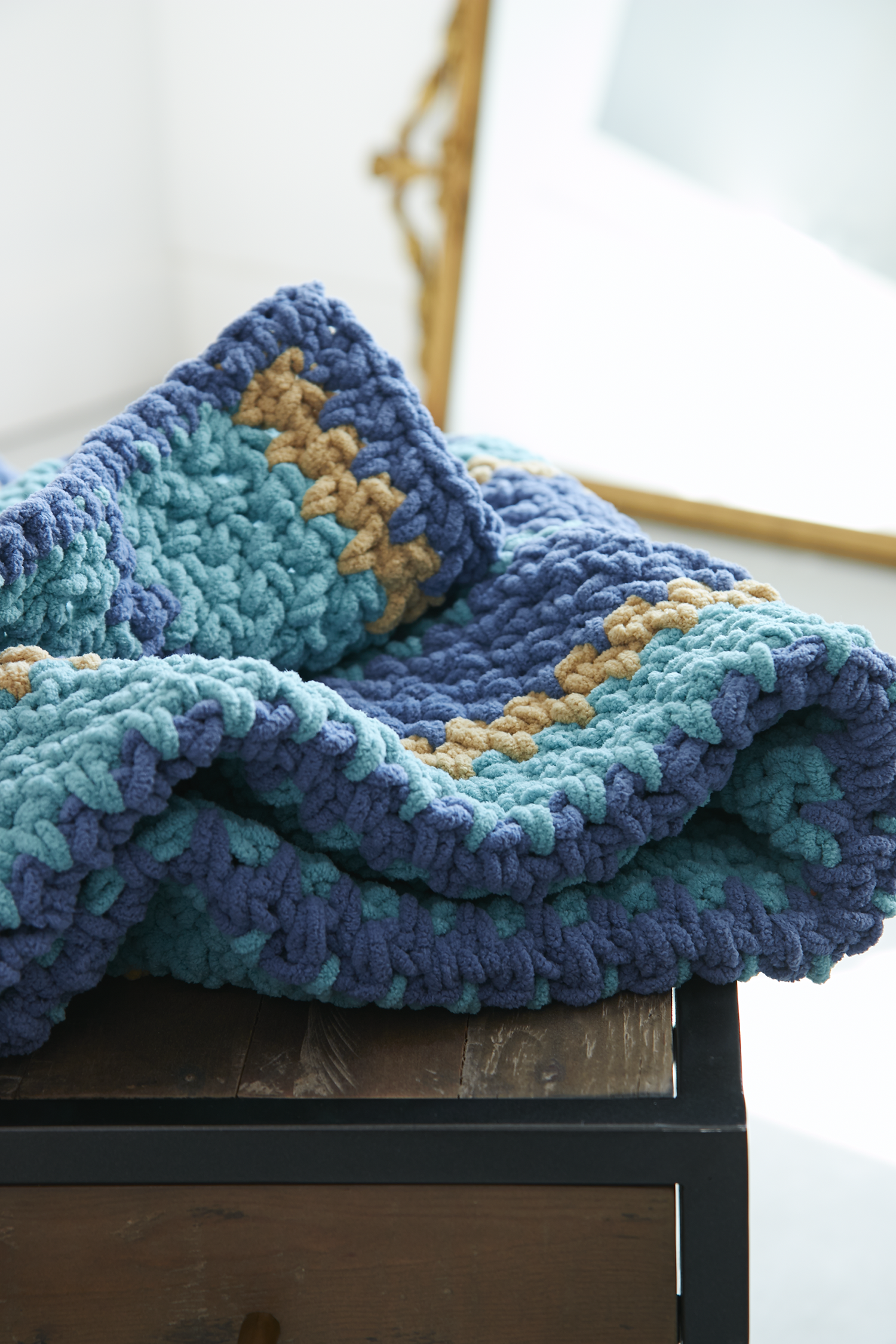 Bernat Cozy Up Stripes Blanket | Tricot | Pinterest | Manta, Tejido ...