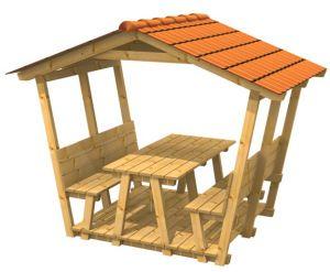 Sitzgruppe Mit Dach Sitzgruppe Einfache Holzprojekte Gartenbank Selber Bauen