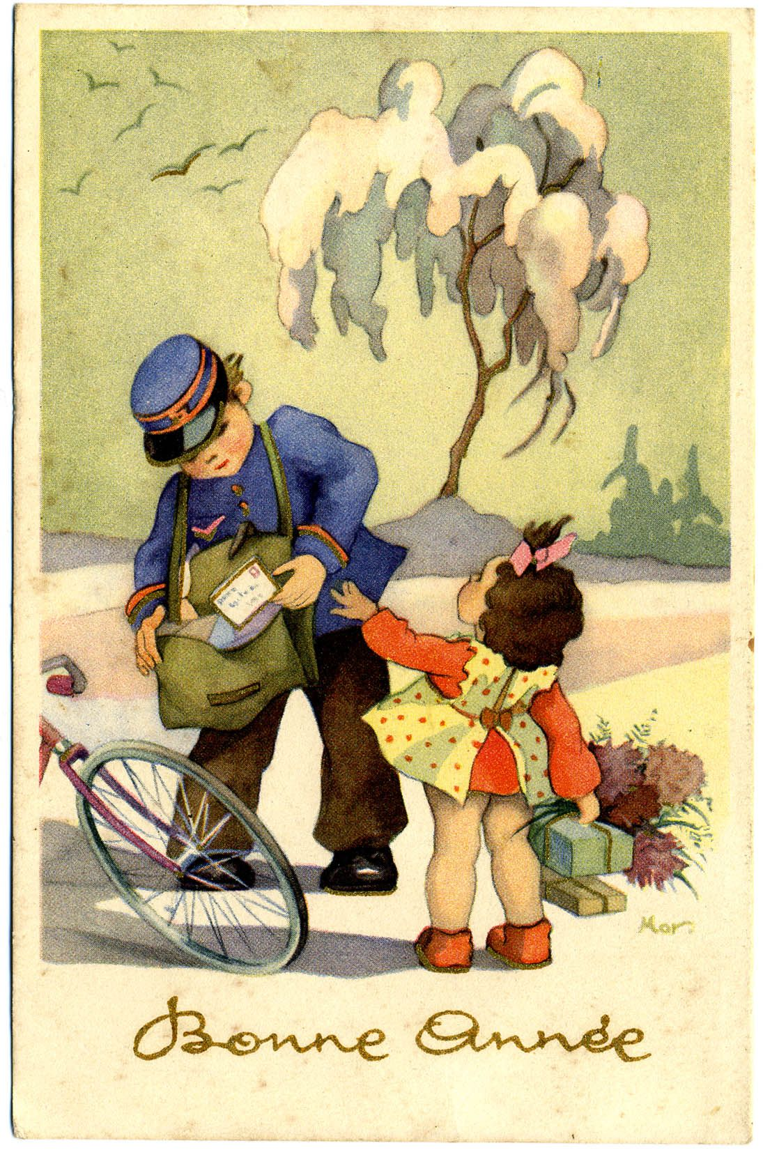 Carte postale 1954 © L'Adresse Musée de La Poste / La Poste, DR