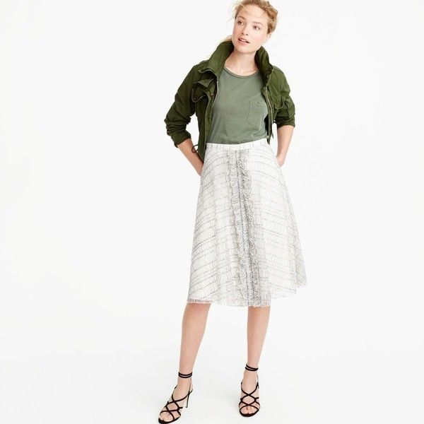 Collection Skirt In French Lace : Women's Skirts | J.Crew and other apparel, accessories and trends. Browse and shop related looks.