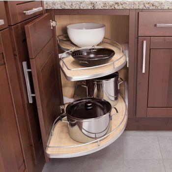 Corner Organizers Shop For Blind Corner Kitchen Cabinet Optimizers