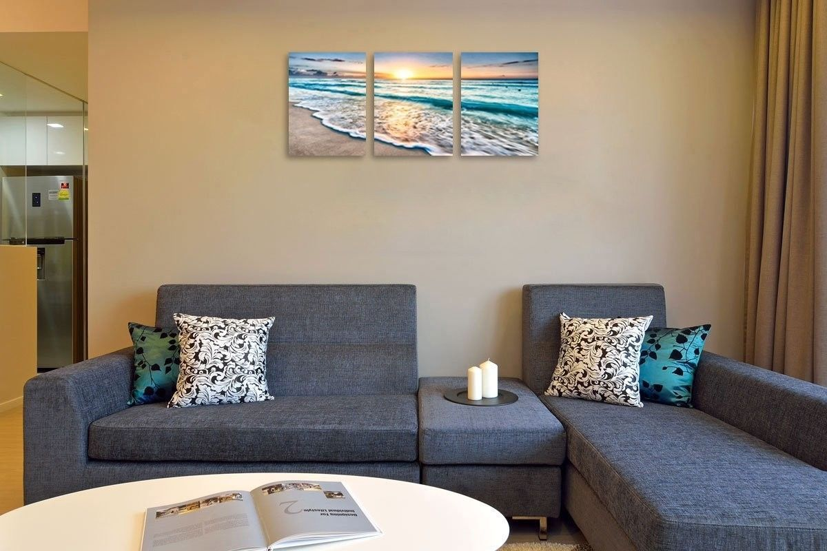 pictures to hang in office. Sunset Beach Painting Wall Art Poster Picture Ready To Hang Home Office Decor $37.3 Pictures In {