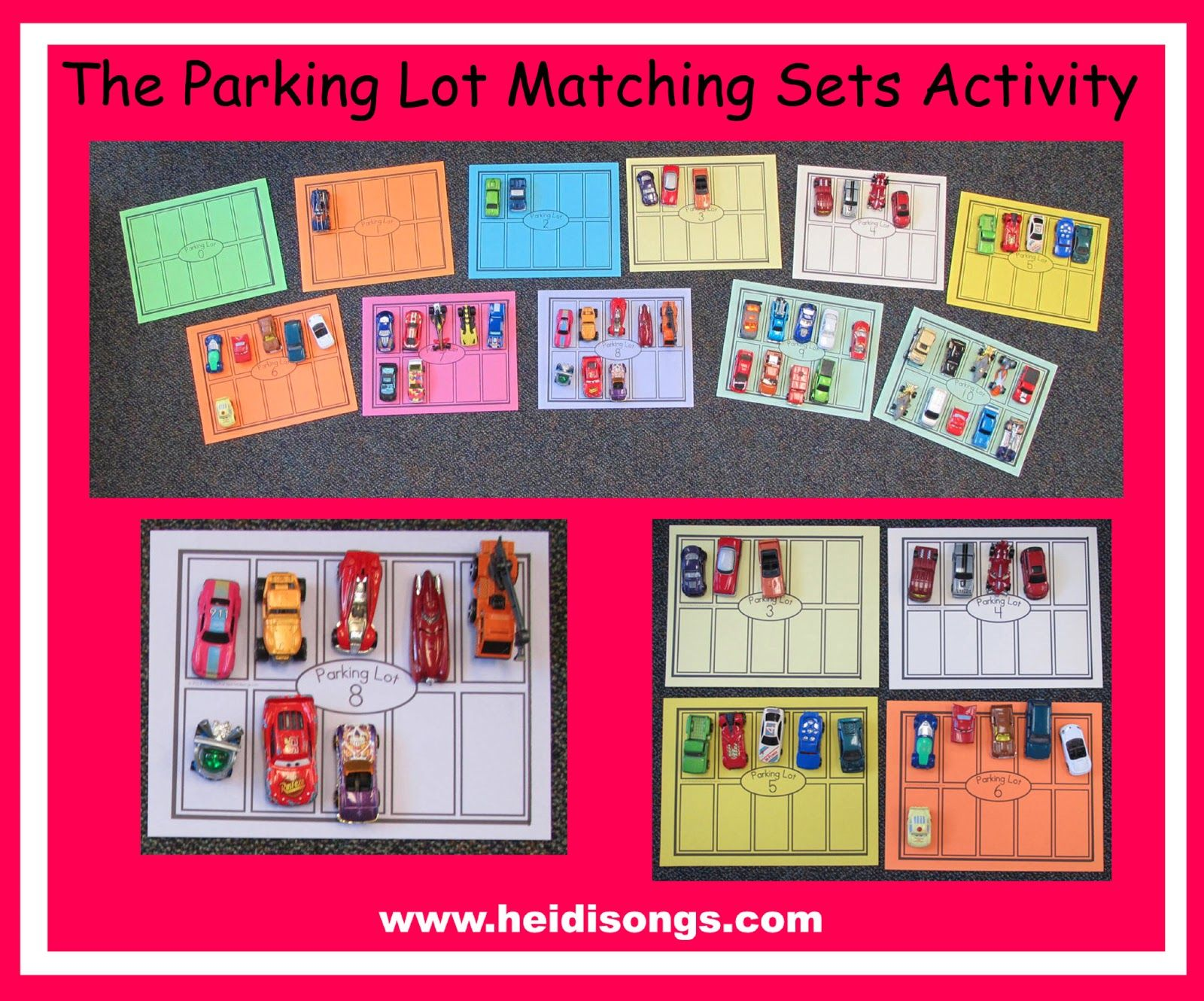 Parking Lot Matching Sets Activity With Free Printable