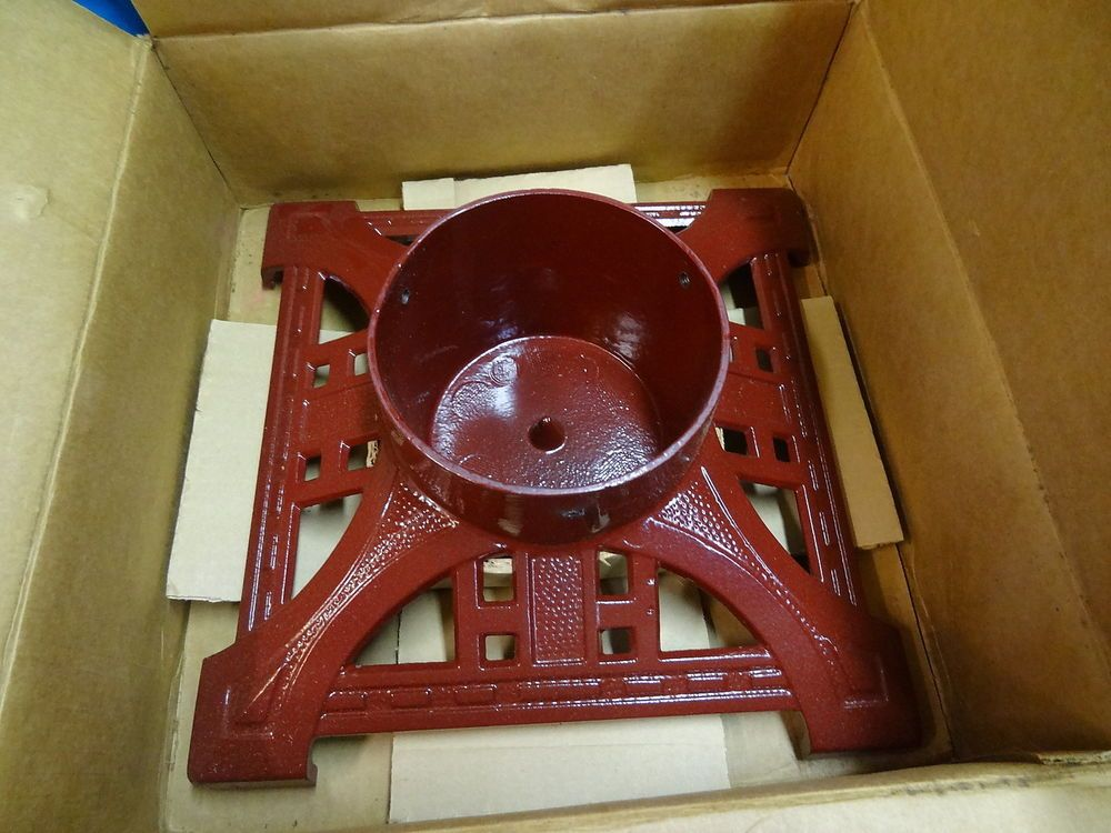 NEW Heirloom Christmas Tree Stand by John Wright, RED, 14