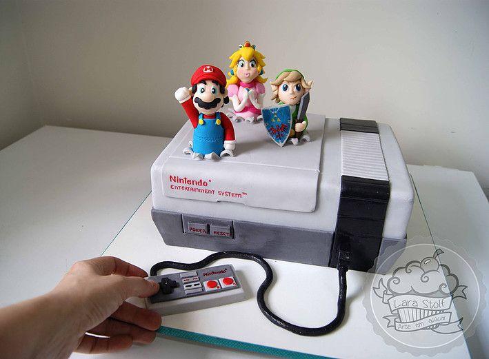 Lara Stolf Arte Em Açúcar Bolos Decorados Nintendo Cakesuper