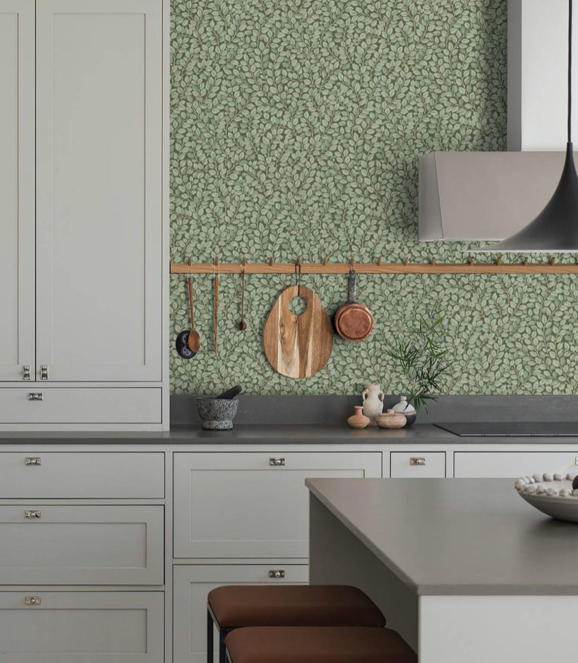 You Can Almost Smell The Thyme And Basil In This Country Kitchen Wallpaper Hazel Buy Wallpaper Online Country Kitchen Wallpaper Samples