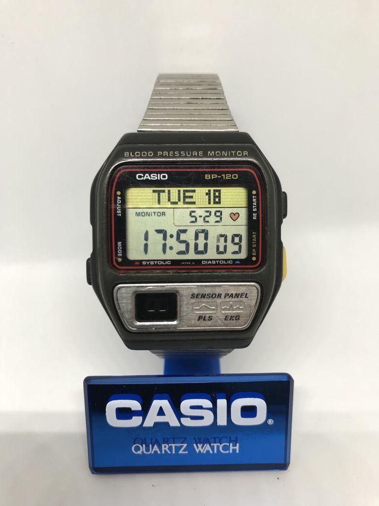 c297ed1c02c CASIO BP-120 Blood Pressure Heart rate pulse monitor Digital watch Japan