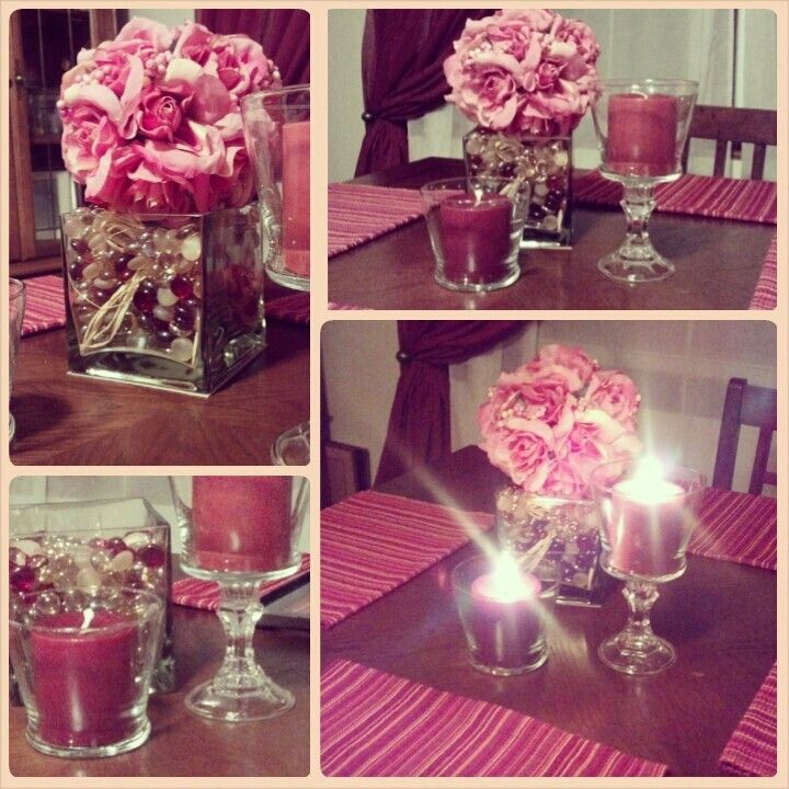 My Centerpiece with items from Dollar Store