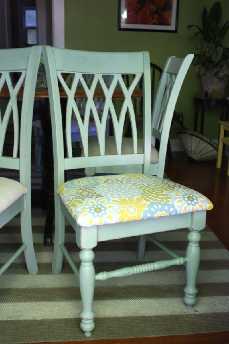 Amazing Painted Dining Chairs: New Fabric Seat Covers For Dining