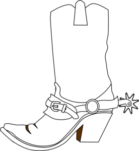 cowboy boot clip art vector clip art online royalty free rh pinterest com boot clipart black and white cowboy boot clipart