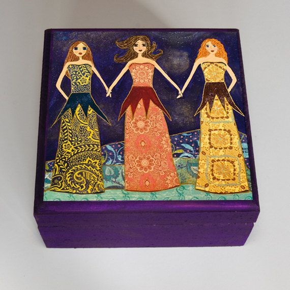 Best Friends Gift Jewelry Box Trinket Box Sister Gift Bridesmaid