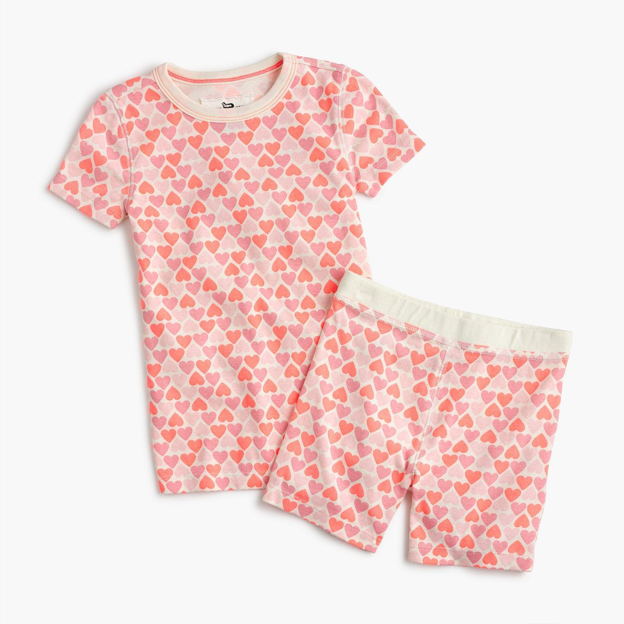 cef3f8f1e26e crewcuts Girls Short-Sleeve Pajama Set In Hearts (Size 8 Kid ...