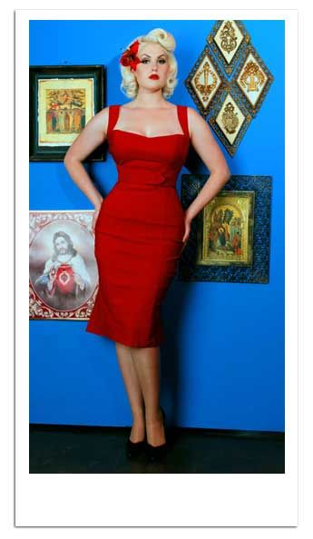 Dress of the Day: Red &-39-Jessica&-39- wiggle dress by by Pinup Couture ...