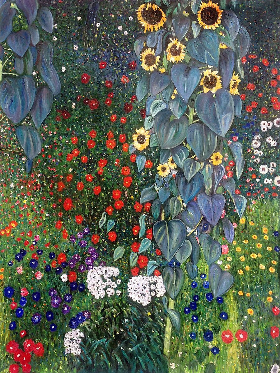 Gustav Klimt   Farm Garden With Sunflowers
