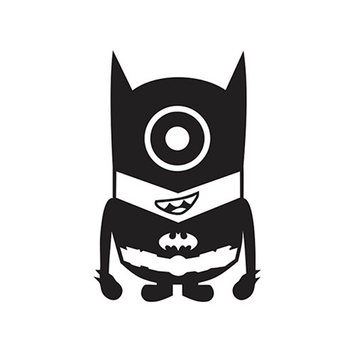 Despicable Me Minion Batman Laptop Car Truck Vinyl Decal Window - Minion custom vinyl decals for car