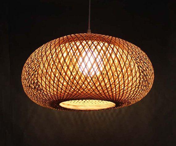 Rural Style Clic Hand Woven From Bamboo Pendant Lighting Chandelier 110 240v 50 60hz