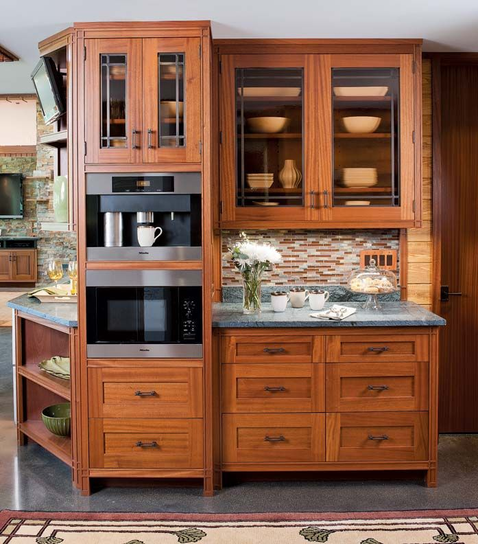 A frank lloyd wright inspired kitchen frank lloyd wright for Frank lloyd wright kitchen ideas