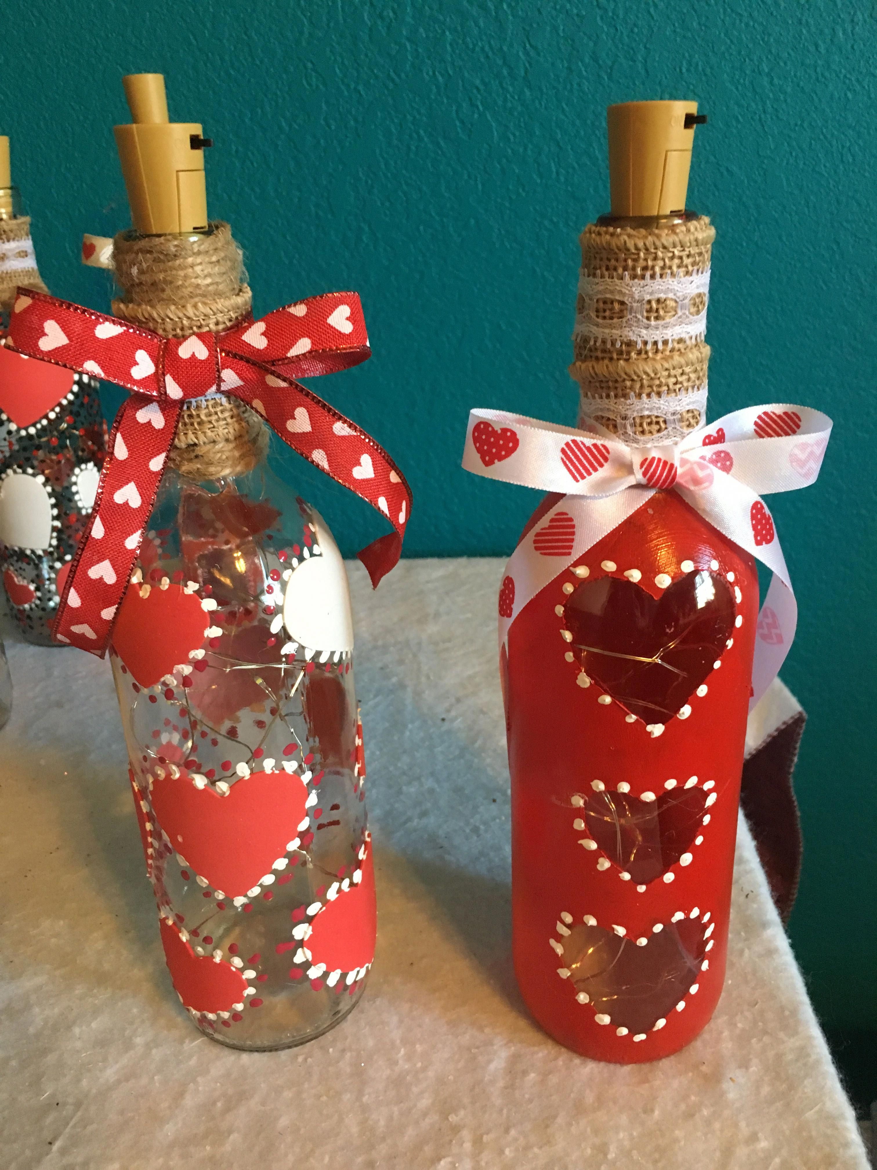 Attempting To Find Wine Box Designs This Round Out Has You Covered From Home Made Spectacles To R Valentines Wine Bottle Crafts Valentines Wine Bottle Crafts
