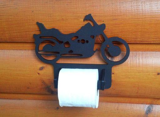 Harley Toilet Paper Holder Motorcycle Decor Clingermans Art Home