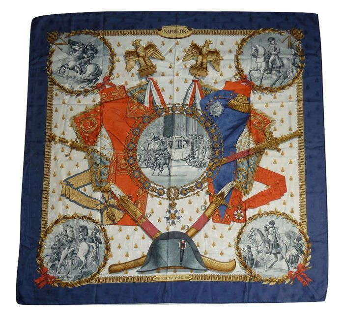 Currently at the  Catawiki auctions  Hermès – Foulard scarf  Napoleon  –  Philippe Ledoux. First issued  1963. e17567591b6