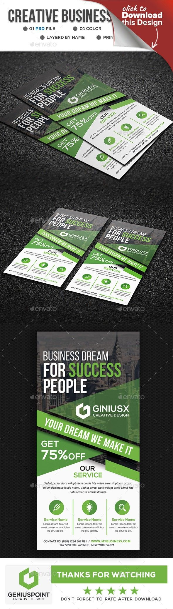 Creative Corporate DL Flyer | Flyer template, Flyer printing and ...