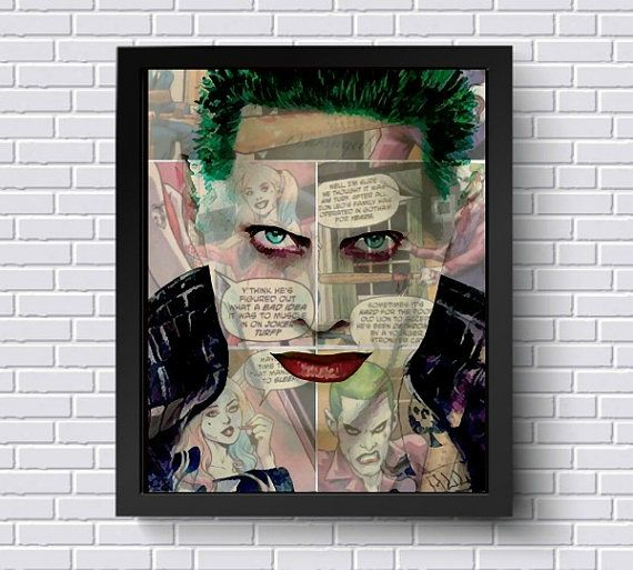Lisa jaye art pop culture wall art apparel joker postercanvas artworkoriginal