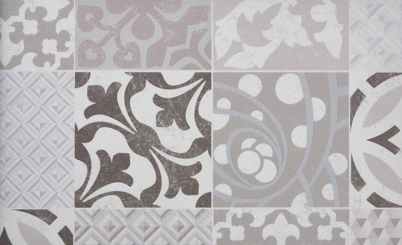 sol vinyle texline carreau ciment beige et marron rouleau 4 m sol vinyle collection sol. Black Bedroom Furniture Sets. Home Design Ideas