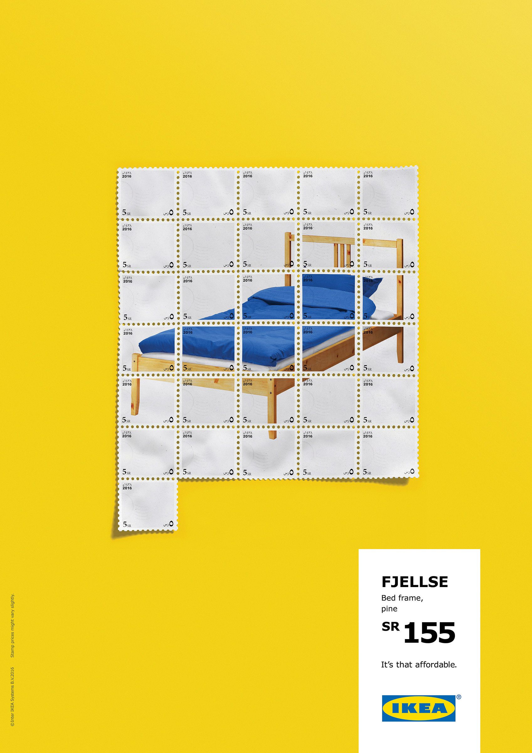 Its that affordable bed ikea furniture colourful stamps poster its that affordable bed ikea furniture colourful stamps poster advertising campaign award winning outdoor advertising dad gumiabroncs Images