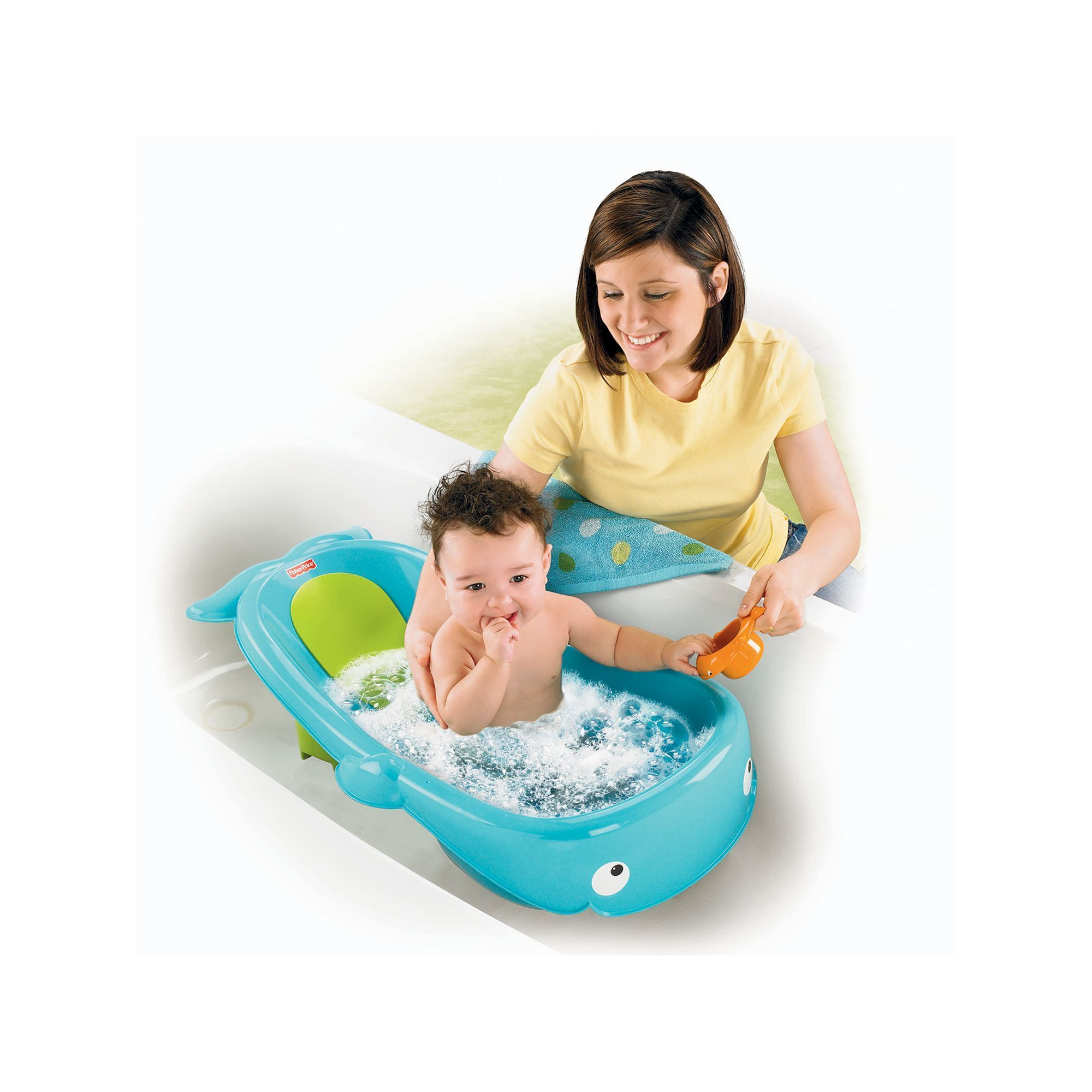 Fisher Price Whale Of A Tub Baby Tub Baby Bath Time Tub
