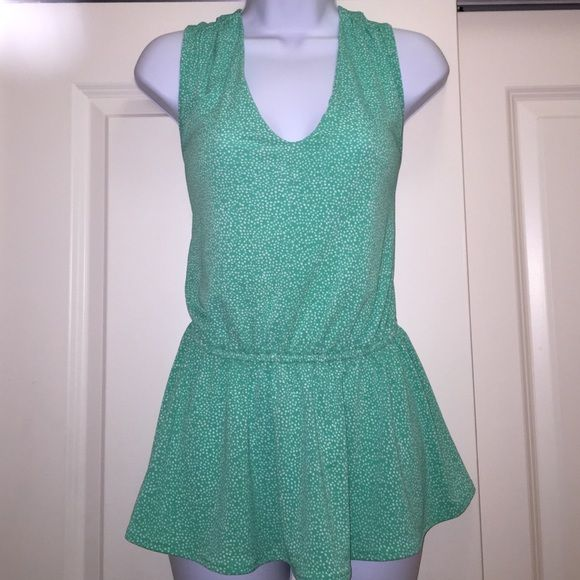 Perfect For The Upcoming Spring: SALE Banana Republic • Green Polka Dot Blouse This Blouse