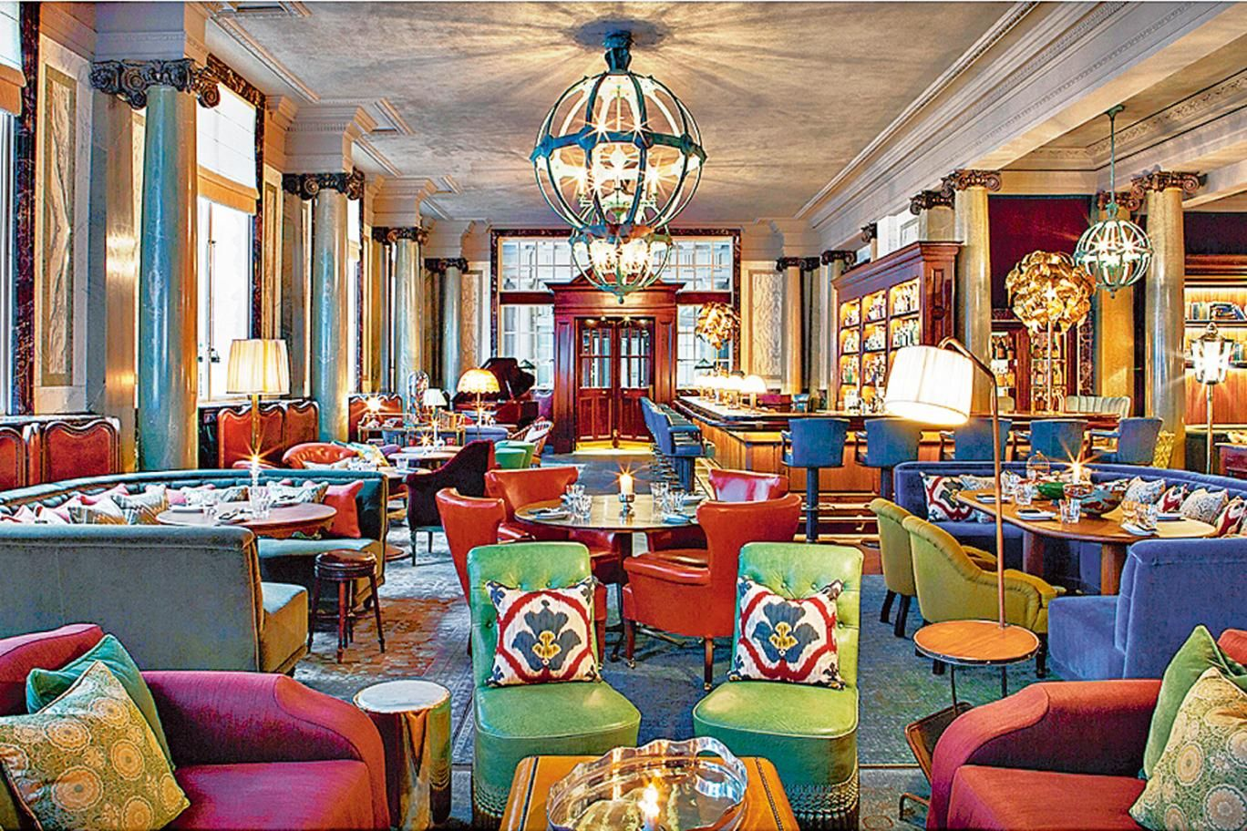 Scarfes Bar Rosewood Hotel London | Colourful Interiors ...