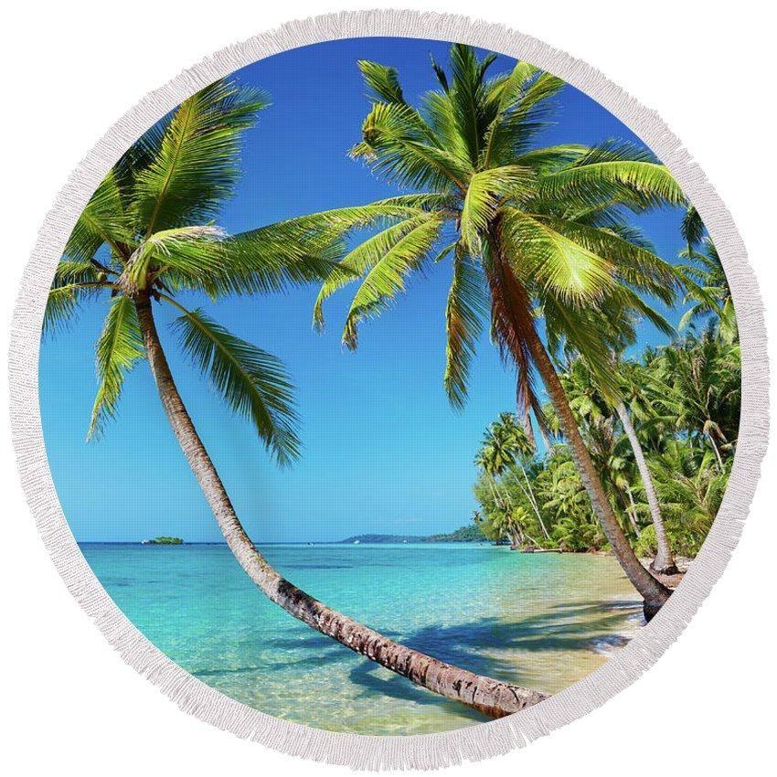 Summer In Saint Thomas Round Beach Towel Made In Usa Beach