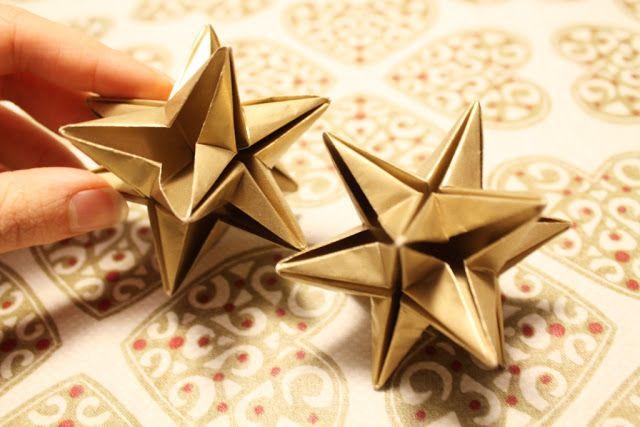 foldet papirstjerne