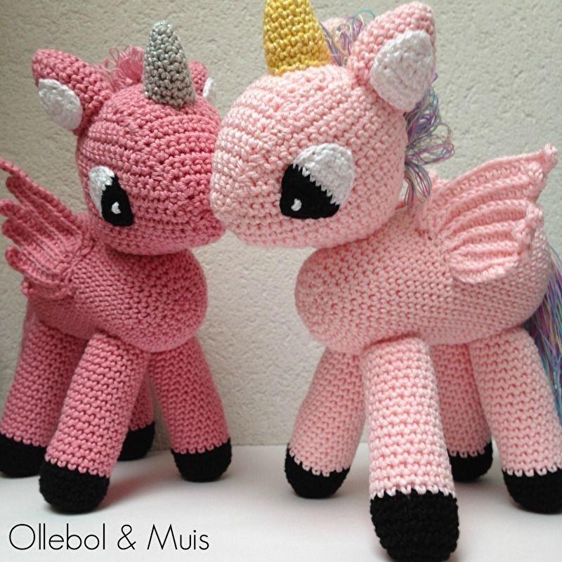 Gehaakte Eenhoorn Kleine Dieren Pinterest Tricot Et Crochet