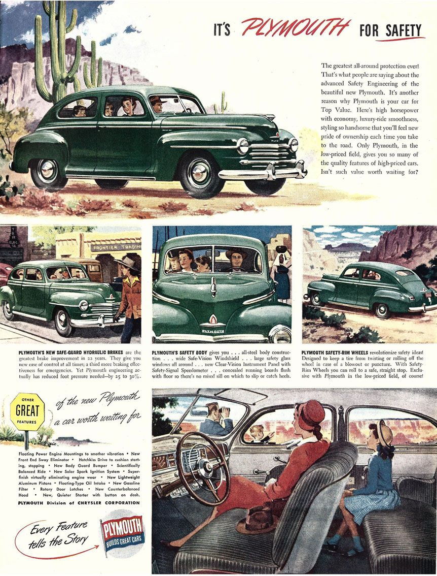 1946 plymouth special deluxe 2 door sedan ads for us for 1946 plymouth special deluxe 4 door