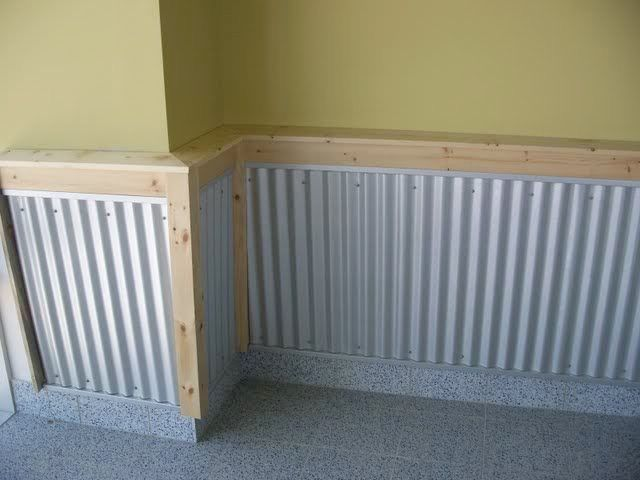 Corrugated Steel Chair Rail Wooden Step Stool Rails Chairrail Pinterest