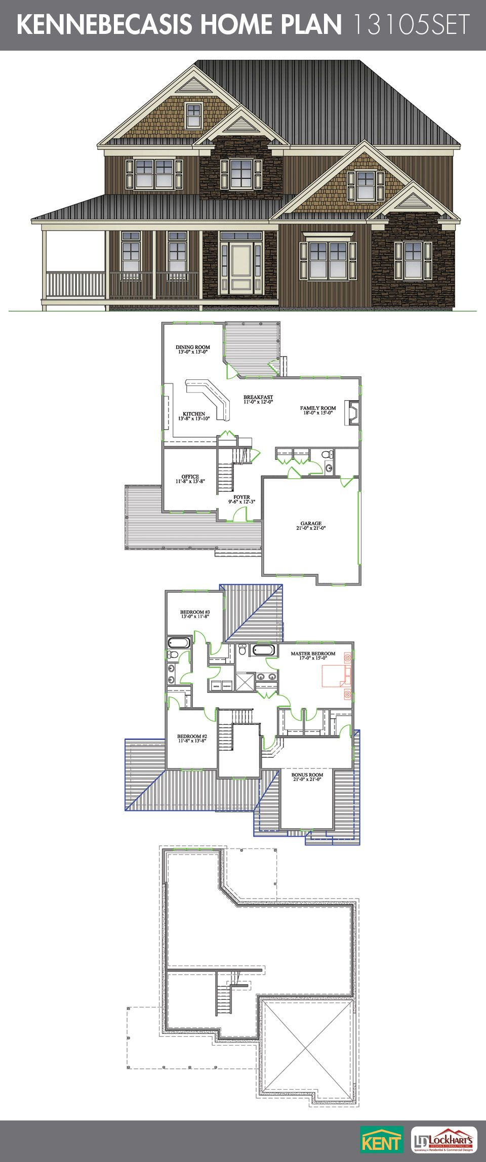 Kennebecasis 3 bedroom 2 1 2 bath home plan features for Search floor plans by features