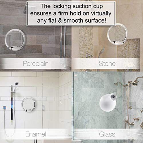 Fogless Shower Mirror With Built In Razor Holder 360 Rotation