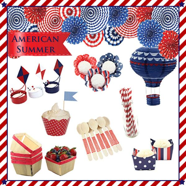American Themed Dinner Party Ideas Part - 17: Our Of July Party Theme Is One Of My Favorites At The Shop. If You Need  Some Last Minute Of July Party Supplies Check Them Out Here.