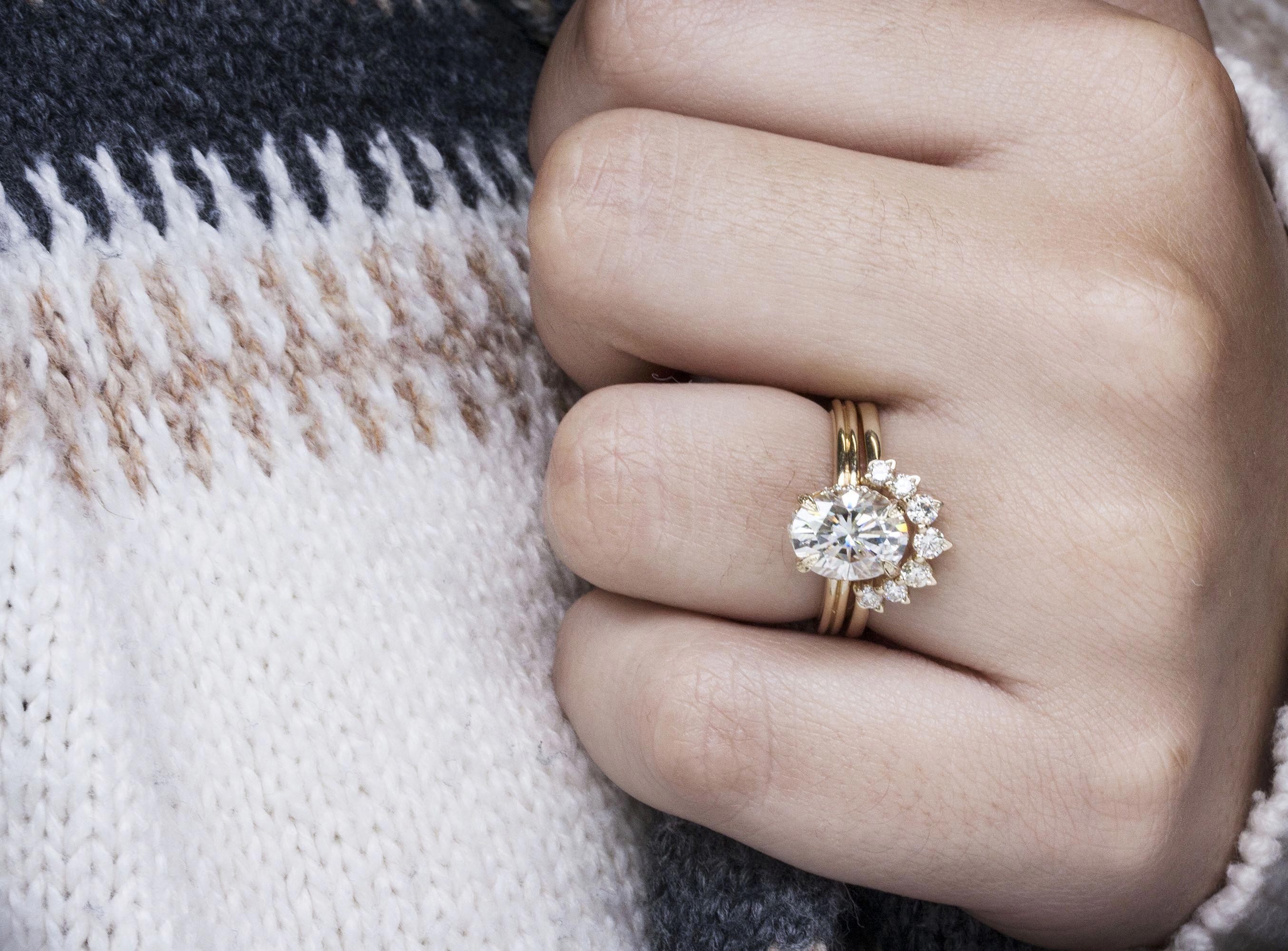 Reposa Wedding Rings Solitaire Wedding Rings Simple Bridal Rings