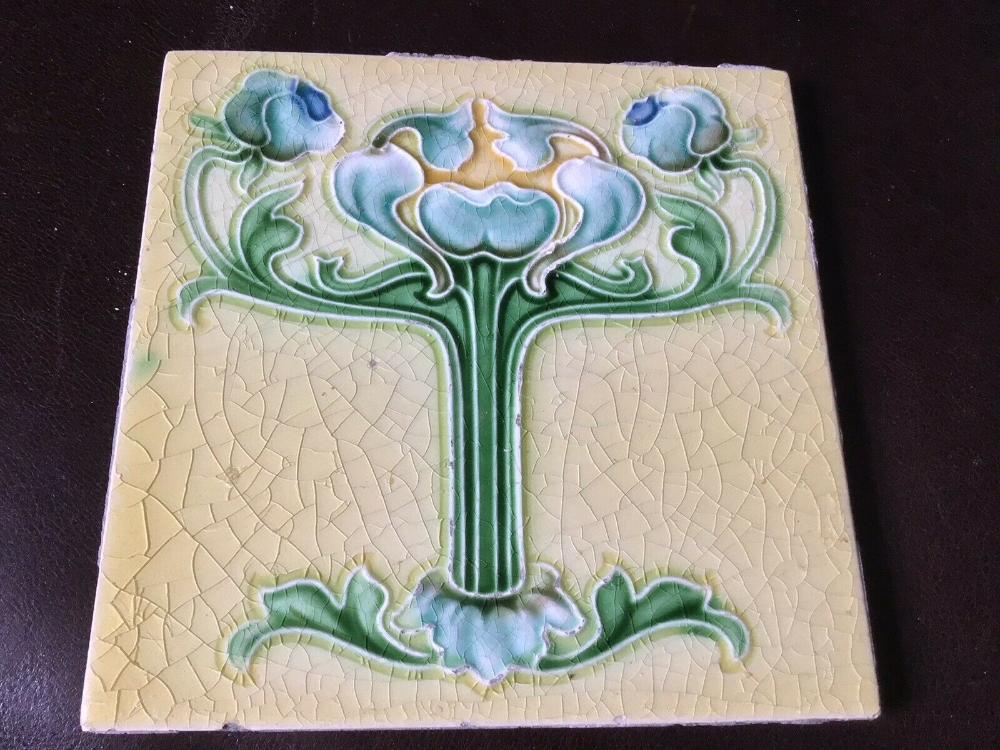 A Genuine Art Nouveau Tile 6 X6 C 1905 Ebay In 2020 Art Nouveau Floral Art Nouveau Art Nouveau Tiles
