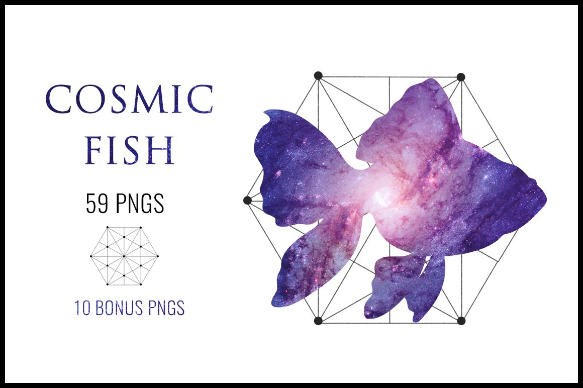 Cosmic Fish, Clipart Commercial use, Fish clipart graphics, Fish ...