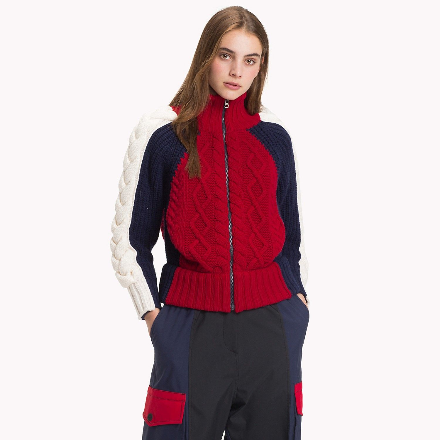 High Neck Zip Sweater Tommy Hilfiger (With images) Zip