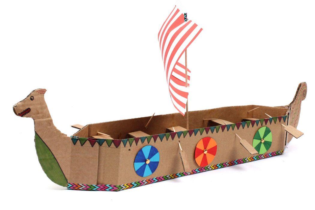 How To Make A Viking Longboat Viking Longboat Boat Crafts
