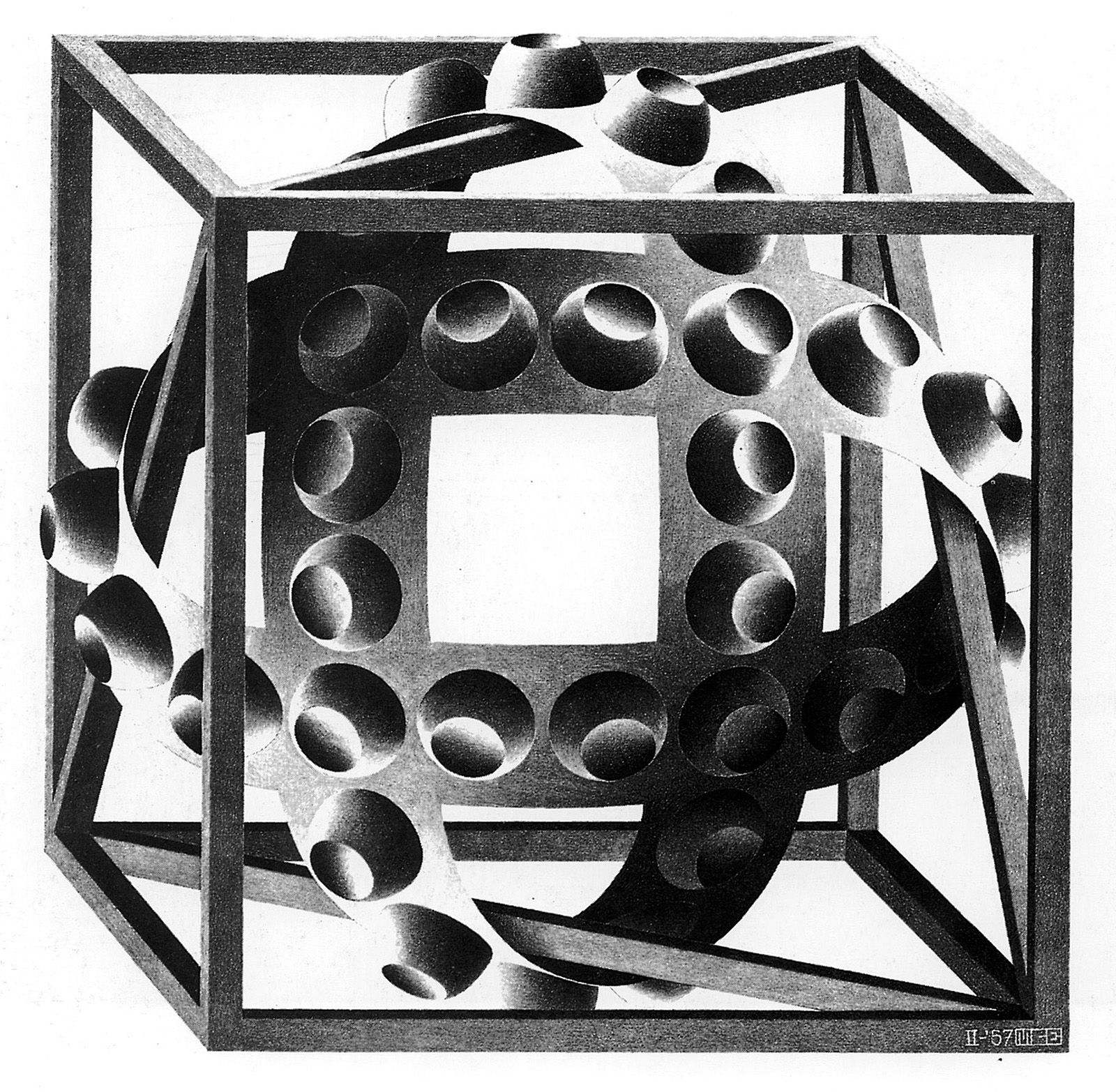 Maurits Cornelis Escher Cube With Magic Ribbons エッシャー 画