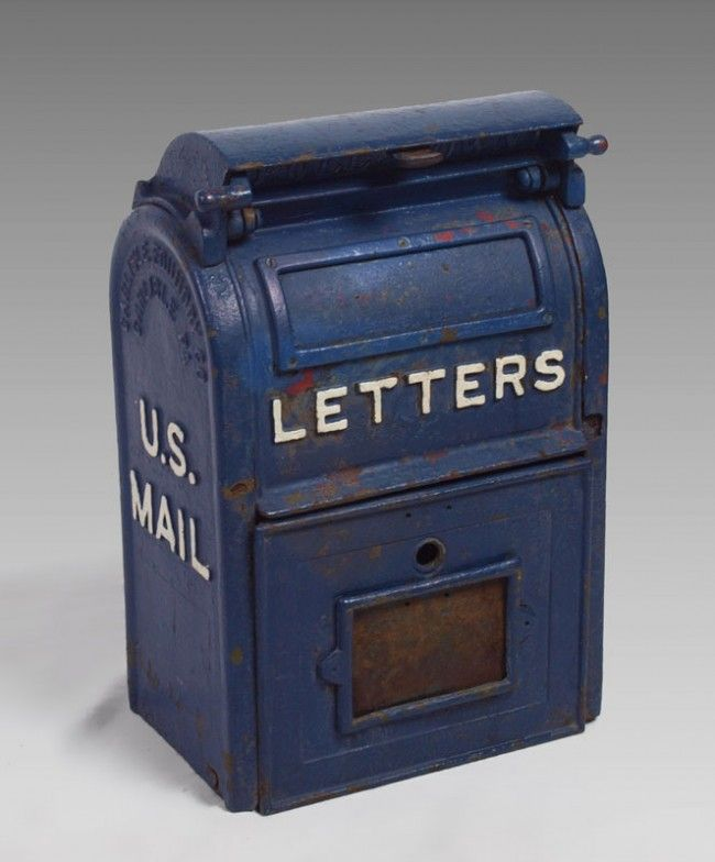 Vintage Cast Iron Us Mail Letter Box  Products
