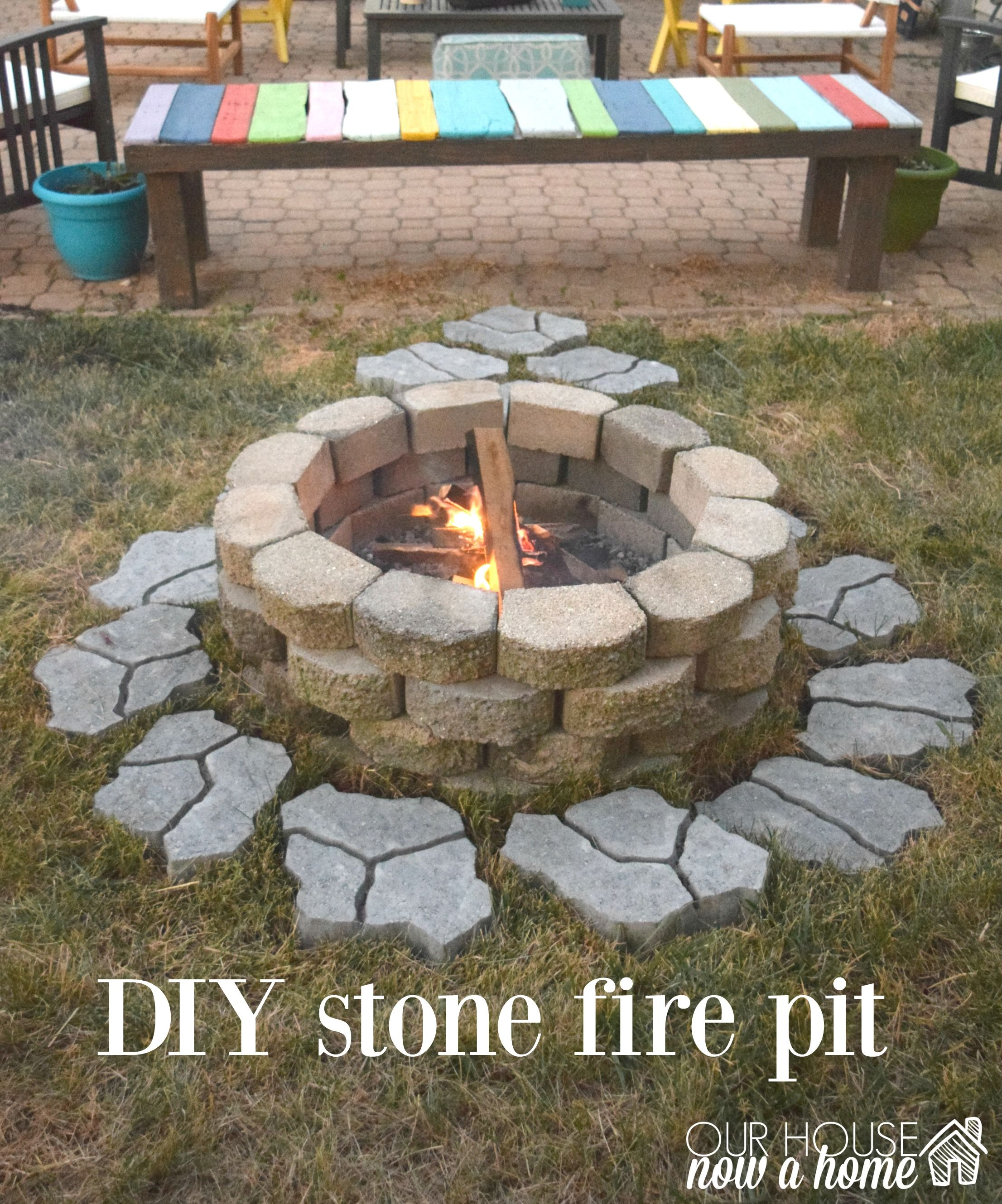 how to build fire pit in backyard | Easy-to-Build DIY ...