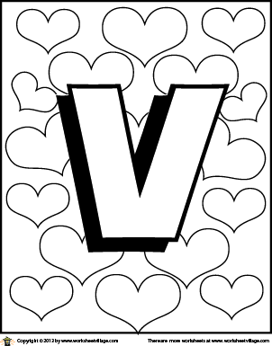 Letter V Coloring Page Coloring Pages Alphabet Coloring Pages Abc Coloring Pages