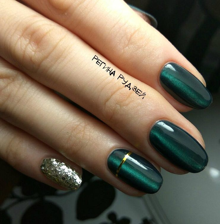 Nail Art 3718 Best Nail Art Designs Gallery Bestartnails Com Green Nails Green Nail Designs Dark Green Nails